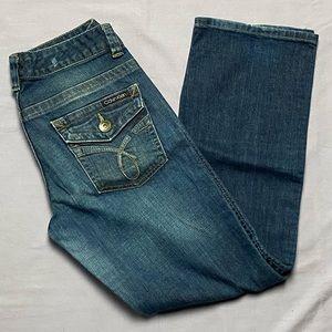 Calvin Klein Lean Boot Cut Jeans - Size 8